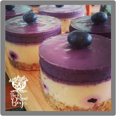 therawboys blueberry vanilla creme raw dessert
